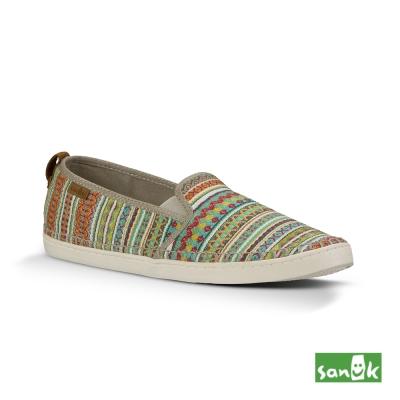 SANUK 美國設計Valdese Weavers編織休閒鞋-女款(大地色)