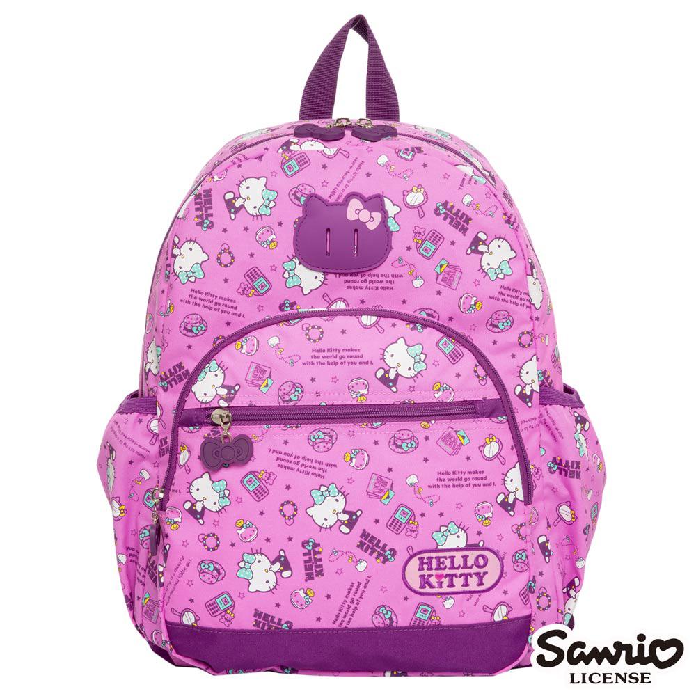 Hello Kitty 休閒潮流Ⅱ大後背包-粉紫KT88B02PL