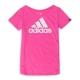 ADIDAS-女短袖上衣S17219-粉紅