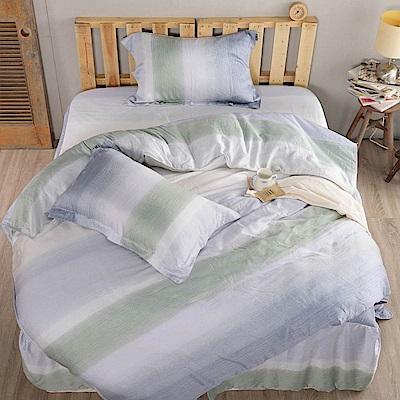 夢工場 海洋之心天絲頂規款四件套鋪棉床罩組-加大