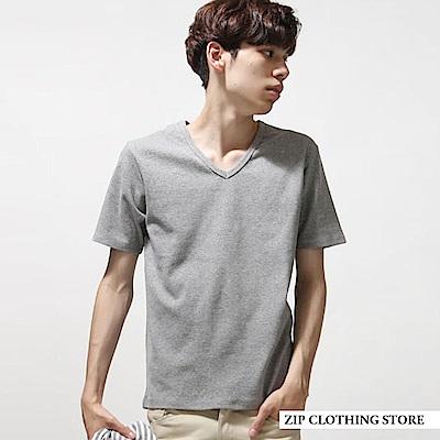 簡約百搭V領T恤(7色) ZIP日本