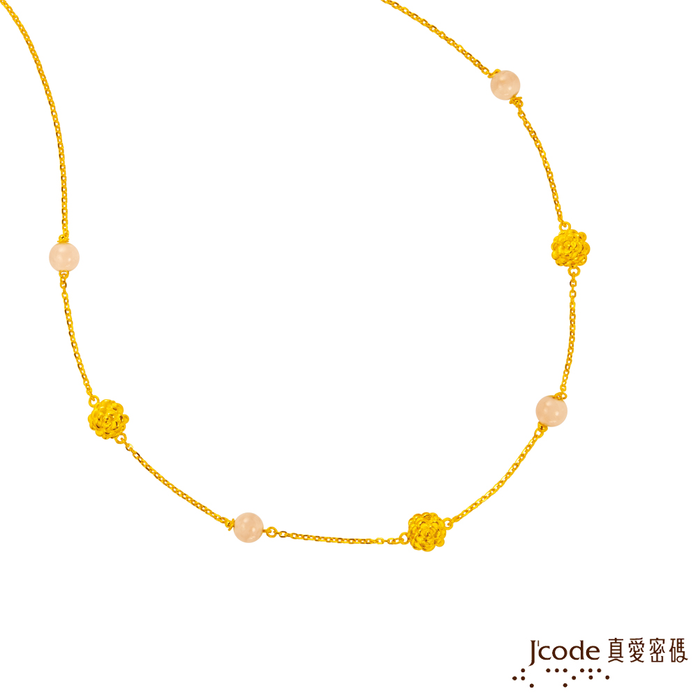J'code真愛密碼金飾 茶花仙子黃金項鍊-短