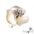 RingCity 珍珠母貝花朵造型戒