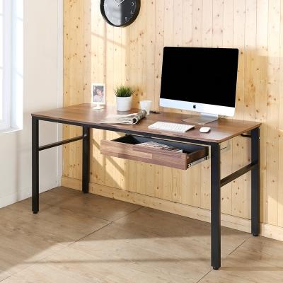 BuyJM工業風低甲醛防潑水附插座單抽工作桌寬160x60x79公分-DIY