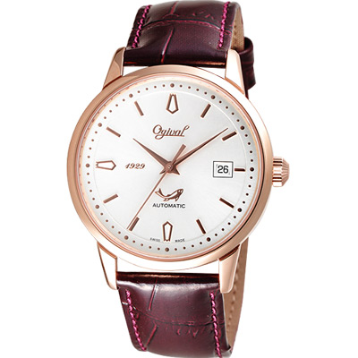 Ogival 五星上將經典機械腕錶-玫塊金/44mm