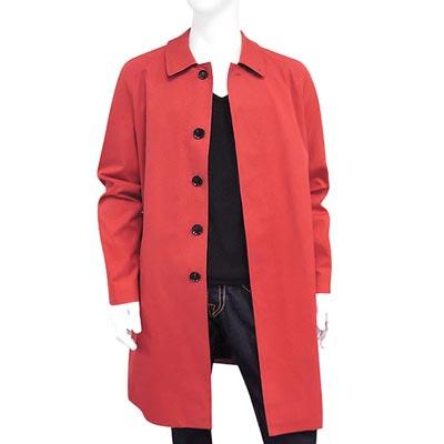 BURBERRY 磚紅色純棉單排釦紳士長版外套 US 384042號