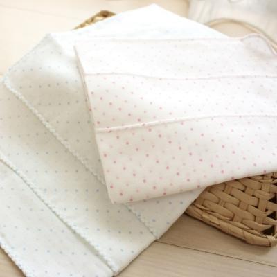 GMP BABY 舒適純棉雙點紗布手巾~3枚