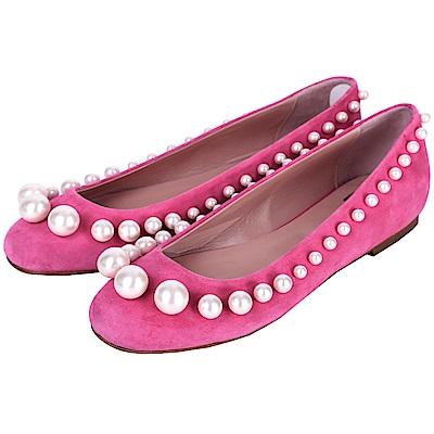 BOUTIQUE MOSCHINO 珍珠麂皮娃娃鞋(38號/展示品)