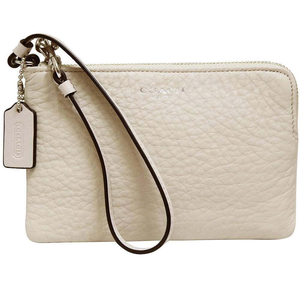 COACH經典素面皮革手拿包-淡褐色 @ Yahoo 購物