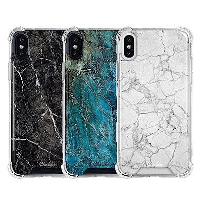 Chiclobe Apple iPhone X 反重力防摔殼-大理石系列