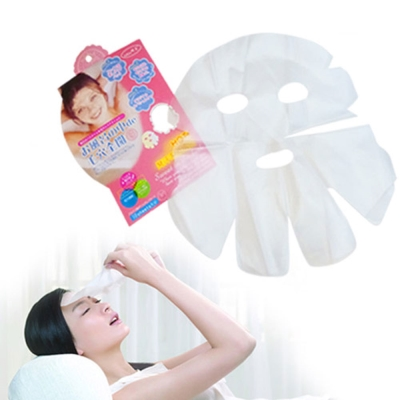 貝禮綺美妝☆日本臉部保濕透明蒸氣面膜氣密毛孔全開保養品加倍吸收-緊緻水潤光滑