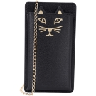 Charlotte Olympia Kitty i Phone5 貓咪鍊帶手機套(黑色)