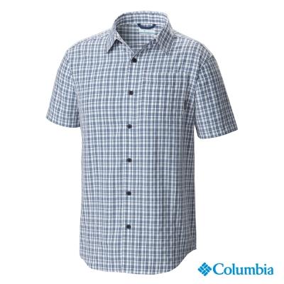 Columbia哥倫比亞-防曬25短袖襯衫-海洋藍(UAM91390AB)