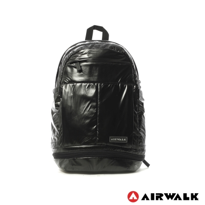 AIRWALK-太空星光-漆亮皮潮流個性後背包-端子黑