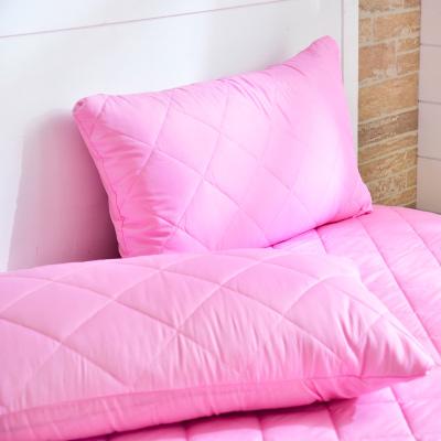 Grace Life 炫彩粉 台灣製吸濕排汗信封式保潔枕套--一對