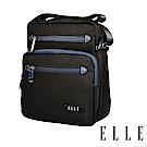 ELLE城市都會休旅系列-多隔層收納7吋休閒直式斜背/側背包-黑色 EL83495