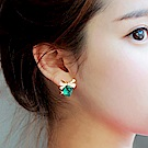 Hera 赫拉 蝴蝶結立體魔方水晶耳環-2款