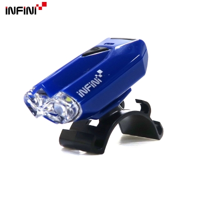 【INFINI】LAVA I-260W 2白光LED警示高亮度4模式前燈-藍色