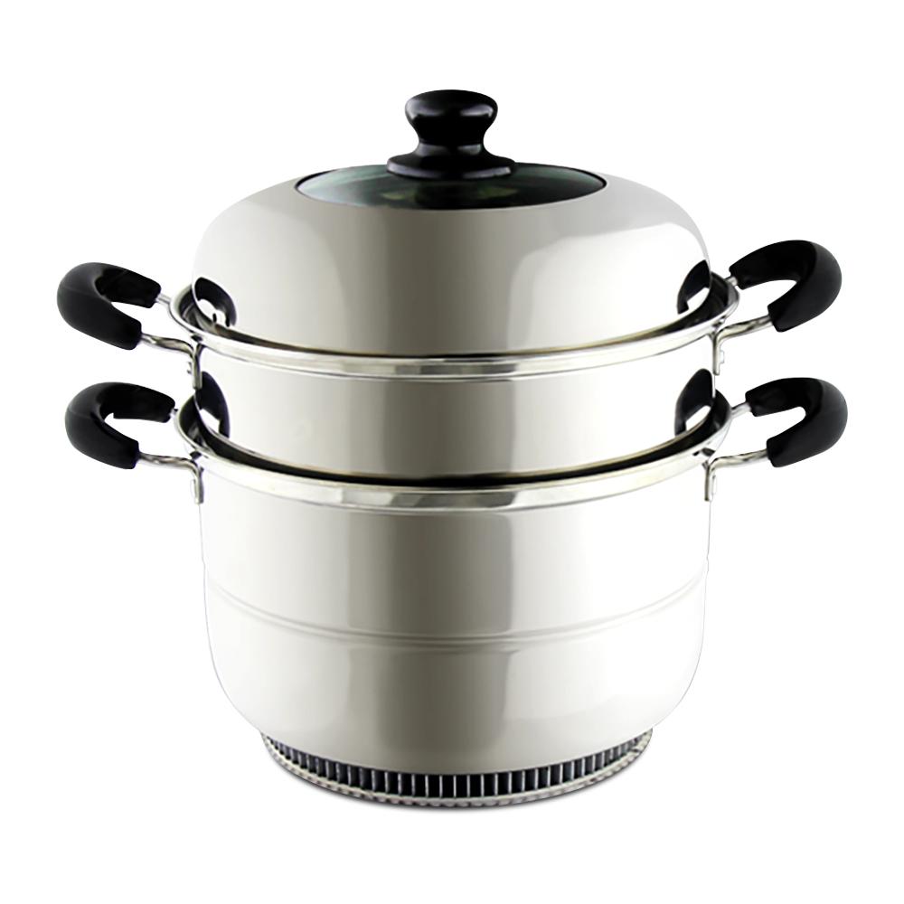 鍋教授 瓦斯節能湯蒸鍋 24X16cm(304不鏽鋼 節能鍋)