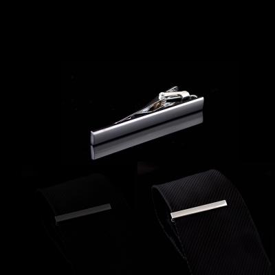 拉福  領帶夾素面銀領帶夾領夾(5.5cm)