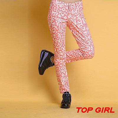 【TOPGIRL】圖紋鉛筆褲-共兩色