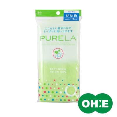 日本OHE 立泡速乾澡巾110cm(較硬綠)