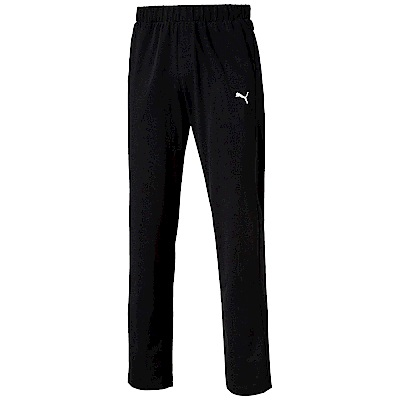 PUMA-男性基本系列素色開口棉褲-黑色-亞規