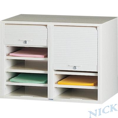 NICK CP雙排塑鋼捲門式公文櫃(共十層)