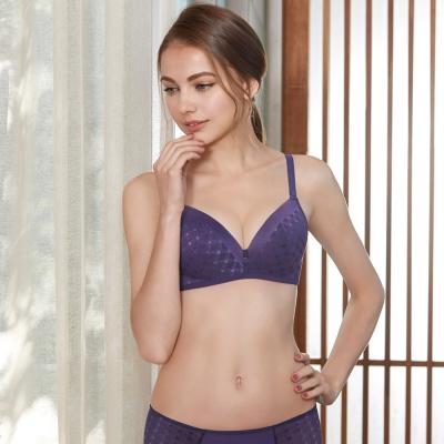 曼黛瑪璉-保氧無鋼圈內衣  B-E罩杯(優雅紫)