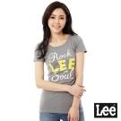Lee 短袖T恤 黃LOGO印刷 -女款(灰)