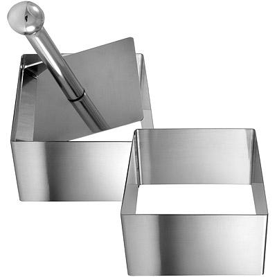 GP&me Dolce不鏽鋼塑型環+壓器(方7cm)
