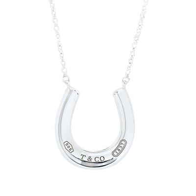 Tiffany&Co. 1837系列 馬蹄造型刻字墜飾925純銀項鍊