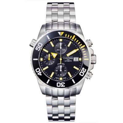 DAVOSA Argonautic 300M潛水陶瓷外圈鋼帶計時腕錶/42mm