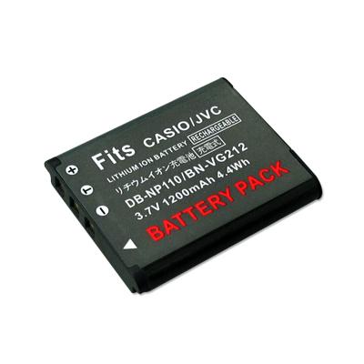 WELLY CASIO NP-110/160/JVC BN-VG212高容量防爆相機鋰電池