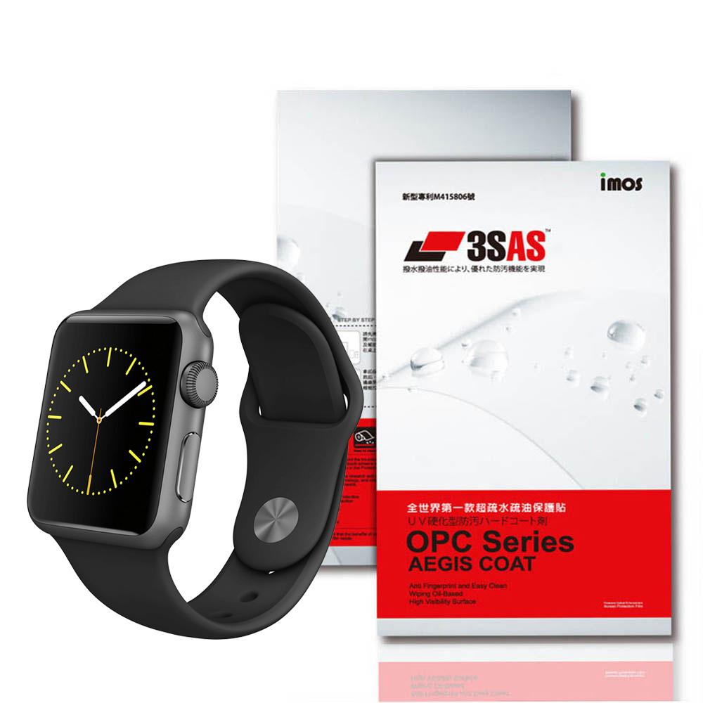 iMOS 蘋果 Apple Watch 42mm 3SAS 螢幕保護貼(二入組)