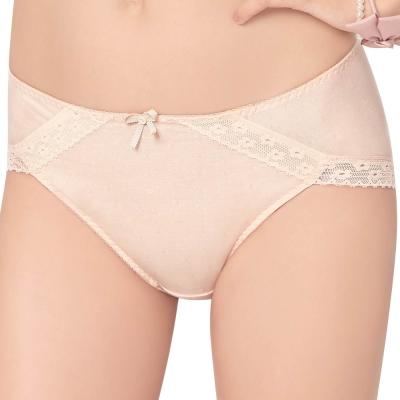 思薇爾 幾分甜輕甜風系列M-XXL素面中腰三角內褲(粉柑色)