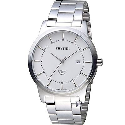 日本麗聲錶RHYTHM沈穩內斂品味紳士錶(GS1601S01)-40mm