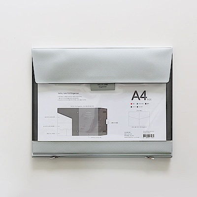 Funnymade 大人收納PVC辦公檔案包A4-薄荷灰