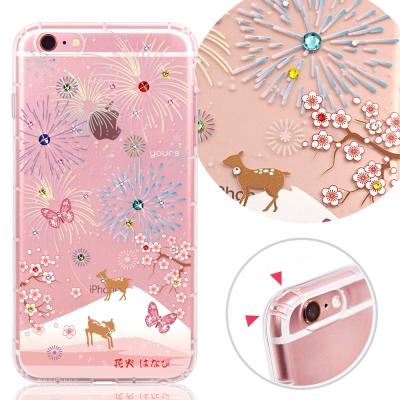 YOURS APPLE iPhone 6s+ 奧地利水晶彩繪防摔貼鑽手機殼-花火