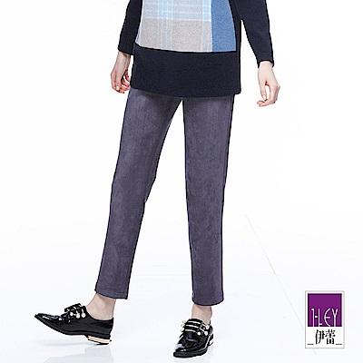 ILEY伊蕾 率性修身仿麂皮窄管褲魅力價商品(灰)