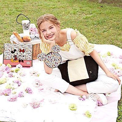 花園米奇米妮系列-甜蜜季節兩用帆布托特包-幸福白