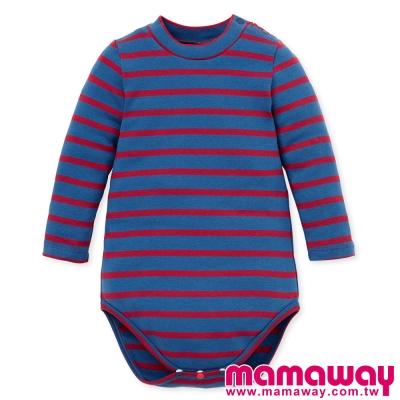 Mamaway-Baby橫紋小高領包屁衣-共四色