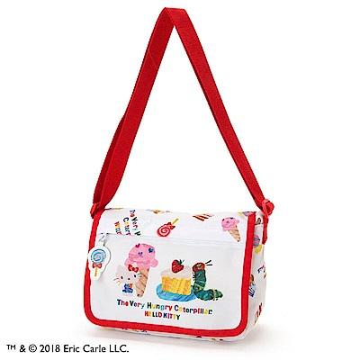 Sanrio HELLO KITTY*好餓的毛毛蟲聯名童用斜背包(甜甜點心)