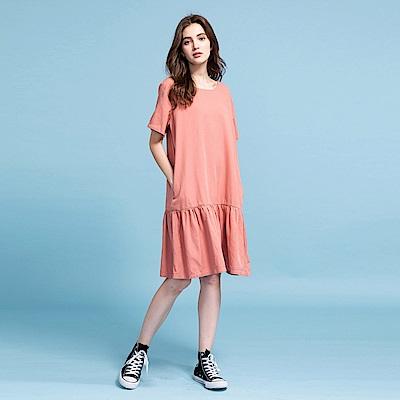 CACO-低腰荷葉裙襬洋裝-女【PSH179】