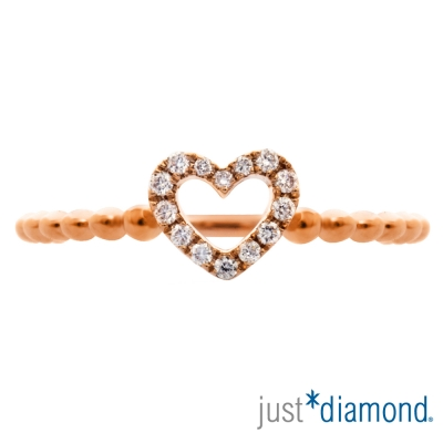 Just Diamond 18K玫瑰金鑽石戒指-專屬愛情