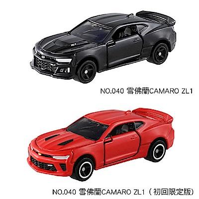任選TOMICA 2台 NO.40 雪佛蘭CAMARO ZL1+初回 TM040A4+C2