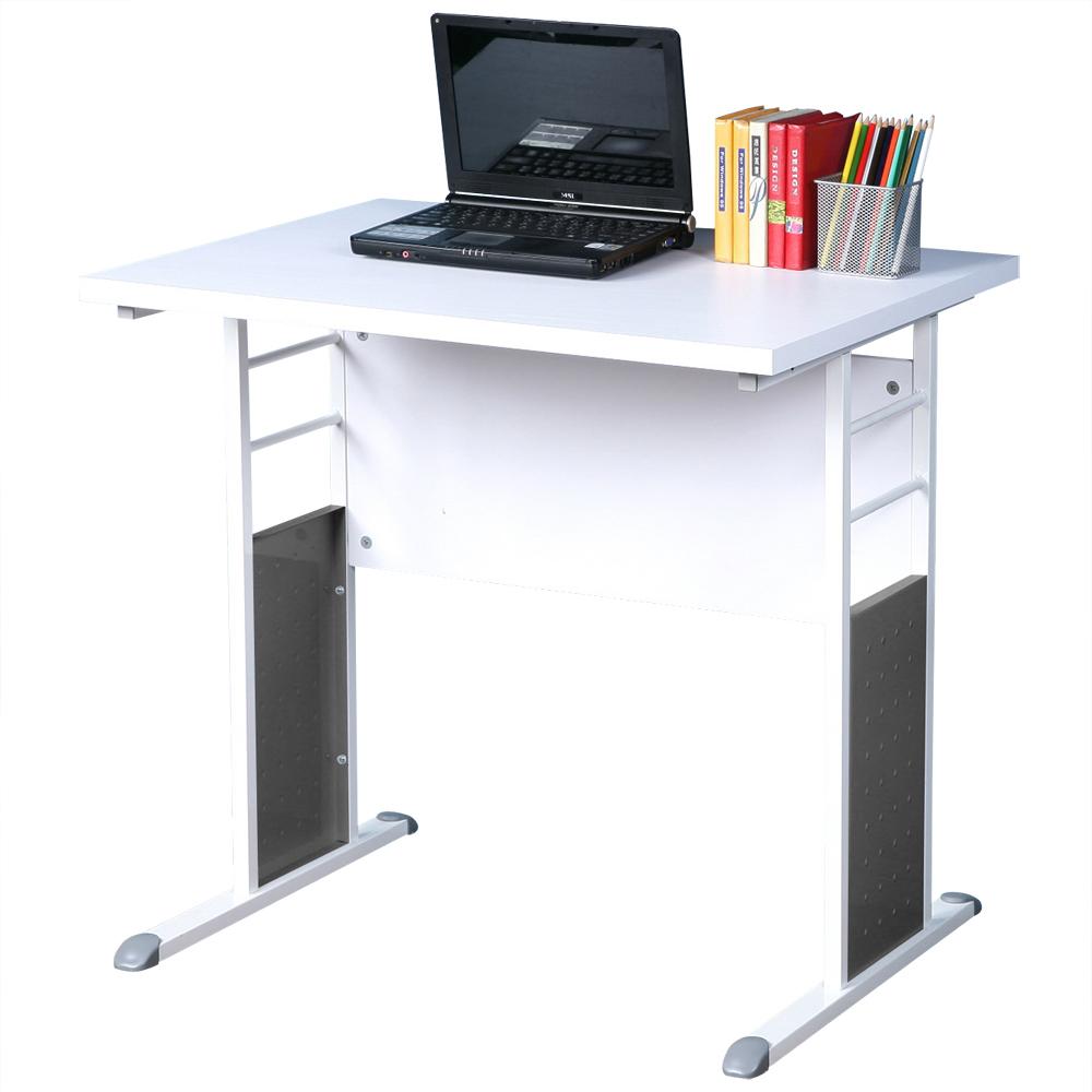 Homelike 巧思辦公桌 亮白系列-白色加厚桌面80cm