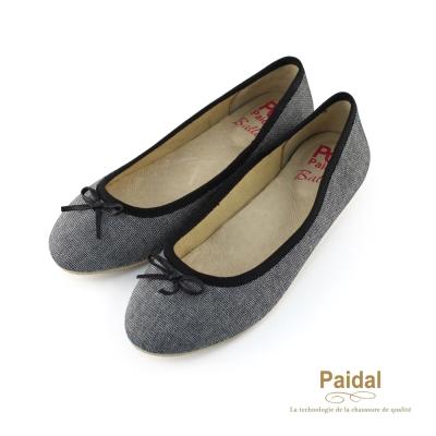 Paidal 氣質甜心蝴蝶節娃娃鞋包鞋-經典黑