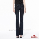 BRAPPERS 女款 新美腳Royal系列-女用中低腰彈性鑲鑽小喇叭褲-深藍