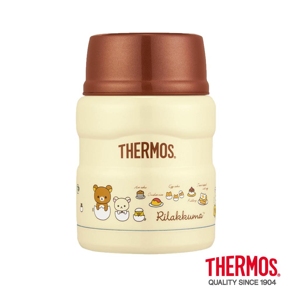 THERMOS膳魔師早安拉拉熊不鏽鋼真空保溫食物燜燒罐0.47L SK3000RM